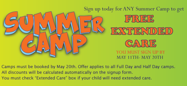 Free Extended Care Summer Camp